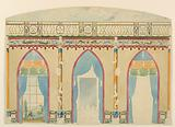 Design for Wall with Three Gothic Arches, Royal Pavilion, Brighton