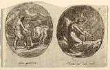 Man the Farmer, Diana the Goddess of the Hunt, Design for Vaulted Ceiling, Sala dei Legislatori, Palazzo Conti-Sinibaldi, Faenza