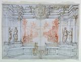 Proscenium and Stage Design: Scene 1, Ballet celebrating the marriage of Leopoldo Cesare, Duke of Mantua, and Claudia Felice, Archduchess of Austria, 1674