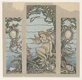 "Study for ""The Mermaid Window,"" A H Barney Residence, New York, NY"
