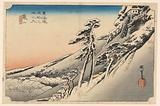 Kameyama, Snow Scene, in The Fifty-Three Stations of the Tokaido Road (Tokaido Gojusan Tsugi-no Uchi)