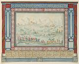 Wall Decoration with Oriental Landscape, probably for Conservatory/Music Room, Royal Pavilion, Brighton