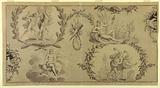 Cartoon for Printed Cotton Textile: The Four Elements (Les Quatre Élements)