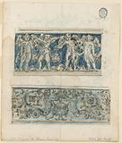 Design for Two Friezes and an Escutcheon