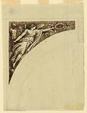 A Winged Victory in the Left Spandrel of an Arch