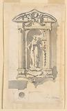 Niche with a Statue of a Female Saint