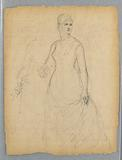 Sketch for Portrait of a Standing Woman