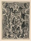 Strapwork Grotesque with Mythological Scene