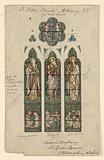 Design for Stained Glass Window, Saint Peter's Episcopal Church, Albany, NY