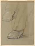 """Study of Peter Cooper's Feet for """"The Atlantic Cable Projectors"""""""