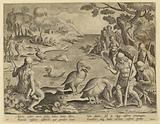 Indians Catching Fish with the Help of Pelicans, in the Venationes Ferarum, Avium, Piscium series