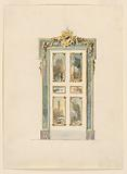 The elevation of a door in Rococo style