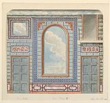 Wall Decoration, Entrance Hall, North Wall, Royal Pavilion, Brighton