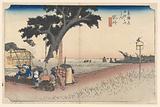 Fukuroi Teahouse, in The Fifty-Three Stations of the Tokaido Road (Tokaido Gojusan Tsugi-no Uchi)