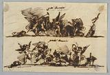 Design for Two Friezes with Putti