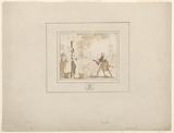 """The Execution by Gunpowder of Hendrik Eemkens in 1562 in Utrecht, design for illustration in T J van Bragt, """"Het bloedig tooneel, of Martelaers spiegel der doopsgesinde of weereloose christenen (The Mirror of Martyrs), 1685"""