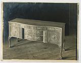 Design for Sideboard with Four Legs and Tri-Partite Front