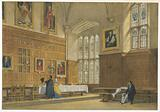 View of the Dining Hall in Magdalen College, Oxford