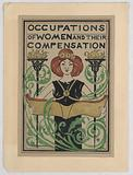 """Design for Title Page, """"Occupations of Women and Their Compensation"""""""