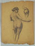 Study of Standing Nude Figure