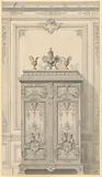 Design for a Bedroom Armoire in Louis XVI Style (Armoire pour un chambre à coucher riches, Style Louis XVI)
