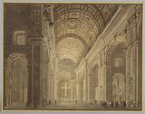 Interior of St Peter's Illuminated