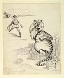 """Tammany Tiger: """"Teddy's going to hunt mountain lions so that gives me a vacation"""""""
