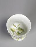 Urn with Molded Lettuce Leaves