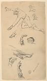 Studies of Hands and Figures