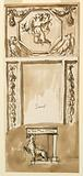 Design for a Console Table and Looking Glass
