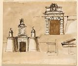 Sketches for a Gateway for a Prison Erected by Pope Pius VI