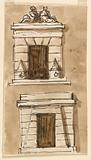 Two Designs for Prison Doorway Erected by Pope Pius VI