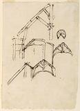 Sections of a roof. Plan of a winding stair.