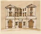 Elevation of a town house