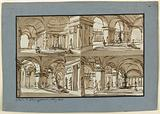 Stage Design of a Palace Interior