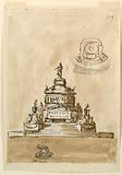 Design for the Elevation of a Sepulchral Monument, Probably for the Young Pretender Charles Edward Stuart