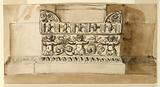 Decoration for the pedestal of a pilaster