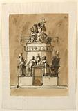Design for a Sepulchral Monument of King Louis XVI of France