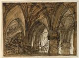 Stage Design for the Interior of a Gothic Vault