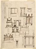 Designs for Monuments, Gateways, Altar and Cabinet