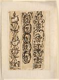 Design for the Decorations of Three Pilaster Strips