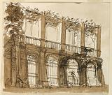 Stage Design of the Elevation of a Pergola