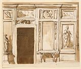 Elevation of a Drawing Room Wall