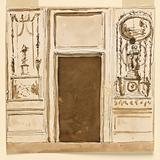 Designs for Wall Panels Flanking a Doorway