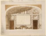 Elevation of Drawing Room Entrance Wall with Vaulted Ceiling