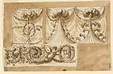 Three Designs for Draperies and One Design for a Frieze