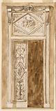 Design for a Double Door with Overdoor