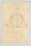 Recto: domed triangular room. Verso: colonnade and a dado.