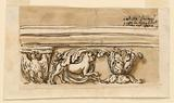 Entablature of an altar in Villa Derossi