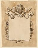 Frame for a papal inscription